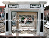 Marble Fireplace Mantel with Small Column
