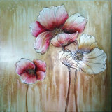 Modern Decoration Flower Oil Painting Big Size Modern Canvas Art