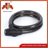 Jq8218 Black Color Safety Bicycle Lock Motorcycle Steel Cable Lock