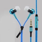 High Quality Remote Control Stereo Zipper Earphone