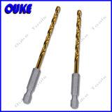 Tin-Coated HSS Hex Shank Twist Drill Bit