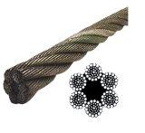 Ungalvanized 6*37 Fiber Core Wire Rope with High Tensile