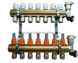 7-Branch Brass Manifold Set for Floor Heating System