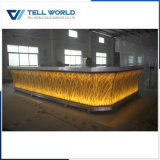 Translucent Panel with LED Lighting Commercial Bar Counter for Sale