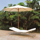 Rattan Outdoor Chaise Lounge/Poolside Coffee Table/Wicker Sun Lounger (TG-JW99)