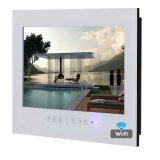 "19"" Waterproof TV for Bathroom Android LED Television White Color"