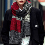 Men′s Classic Winter Warm Wool Acrylic Knitted Scarf Blended Men Scarf