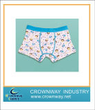 Boys Cotton Printing Boxer Underwear with Jacquard Waistband