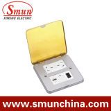 Floor Socket with 1 USD 1 Port and 1 Outlet
