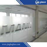 3-19mm Bent Acid Etch Tempered Glass for Bathroom