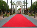 Custom Fabric Wed Wedding Aisle PVC/Rubber Backed Indoor Outdoor Red Carpet