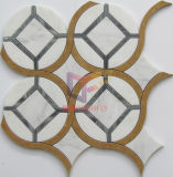 Mix Color Water Jet Marble Mosaic (CFW76)