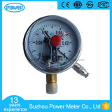 4 Inch Lower Entry Chrome Plate Case Electric Contact Radial Pressure Gauge