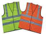 High-Visibility Fluorescent Red Reflective Saftey Vest (MW19002)