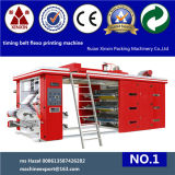 6 Color Flexographic Printing Machine Ceramic Anilox Roller Chamber Doctor Blade System Belt Controls
