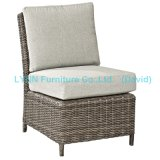 Wicker Side Chair with Waterproof Cushion Middle Sofa