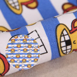 Smile Monkey Pattern 250GSM Printed Woven Canvas Fabric