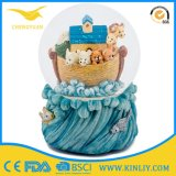 Chinese Factory Custom Made Handmade Carved Resin Water Globe Gift