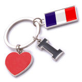 New Custom Metal Souvenir France Keyring