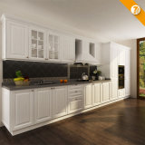 Oppein Fast Delivery Modern White PVC Wood Kitchen Furniture (OP14-K002)