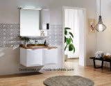 Color Marble Top Wall Mounted Makeup LED Light Bathroom Vanity with Drawer