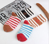 New Style Cotton Wholesale Heavy Thread Navy Anchor Couples Striped Socks