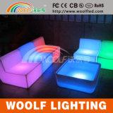 Rotating Plastic Decor LED Light Lounge Furniture