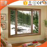 Soundproof Quality Window American Casement Window with Foldable Crank Handle Aluminum Clad Solid Oak Wood