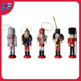 Wooden Nutcracker Hanging Ornament Christmas Decorations Seasonal Gift Set of 5