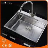 (WT1016BN-KF) Double Handle Kitchen Sink Faucet Tap