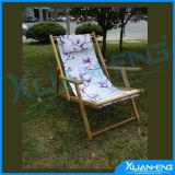 Vintage Folding Wood & Canvas Beach Chair