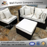 Well Furnir WF-17040 Wicker 4 Piece Sofa Set with Cushion