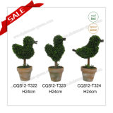 H24cm PE Exquisite Artificial Topiary Tree Shops Decoration