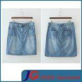 Light Blue Ladies Short Skirt Denim Skirt (JC2055)