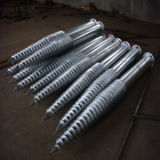 Hot Galvanized Metal Ground Helical Screw Pile Driver for Solar Project Foundation Bolt