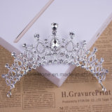2018 Newest Customized Crystal Crown Wedding Glass Stonne Christmas Gift Tiaras Bridal Crown (BC-07)