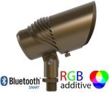 Waterproof Outdoor Accent Spotlight with Brass Fixture