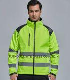 2017 High Visibility Safety Softshell Jacket Workwear
