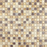Gold Crystal Glass Mix Marble Mosaic Tile