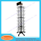 Customized Light Duty Metal Spinning Postcard Storage Display Stands Trade Show
