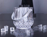 OEM Plastic Crystal Champagne Ice Bucket with Handle