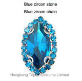 Trim Sweet Rhinestones New Fashion Claw Setting Rhinstone for Necklaces (SW-Boat 9*18 blue zircon)