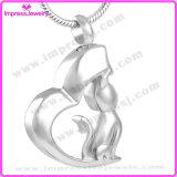 Ijd8132 Wholesale Elegant Cat Pet Ashes Keepsake Memorial Locket Stainless Steel Cremation Pendant Necklace