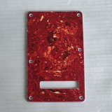 4ply Red Tortoise Strat Tremolo Cover Back Plate Guitar