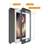 Wholesale PC Material Full Cover Protective Cell Phone 360 Case with Glass Screen Protector for iPhone 7