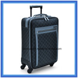 Factory Make Printing PU Leather Practical Travel Luggage Bag, Customized Business Trip Trolley Case with Two Revolving Wheels