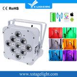 9*18W Battery LED High Power Light Flat PAR Can Lighting