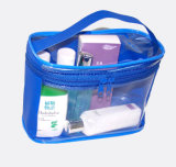 Recyclable Transparent PVC Handle Travel Cosmetic Case