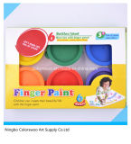 6*24ml Finger Paint in Color Box for Kids and Students