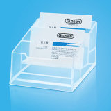 3 Tiers Clear Color Plastic Business Name Card Storage Box